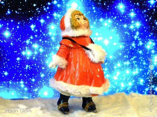 Всем привет! Продолжаю новогодне-зимнюю тему. Сегодня хочу показать вам девочку на коньках, немного винтажную;) фото 20