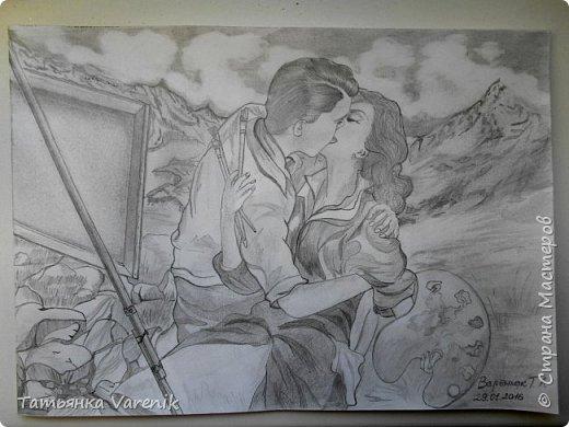 Одним росчерком карандаша...палитра чувств,эмоций и настроений...❤  Идеи зарисовок не мои.Срисовывала иллюстрации  разных талантливых илюстраторов=) фото 36