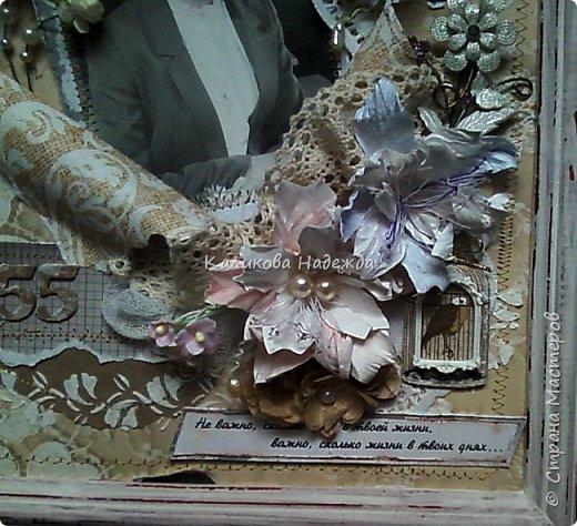Что подарить на юбилей подруге? Чтобы подарок порадовал неординарностью, разбудил память, оживил воспоминания прошлых лет? Я решила оформить фото в рамке в винтажном стиле. фото 2