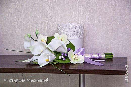 Сами цветы и листья-иранский фом, серединки(пестики)-зефирный. Тонировка масленой и сухой пастелью. фото 4