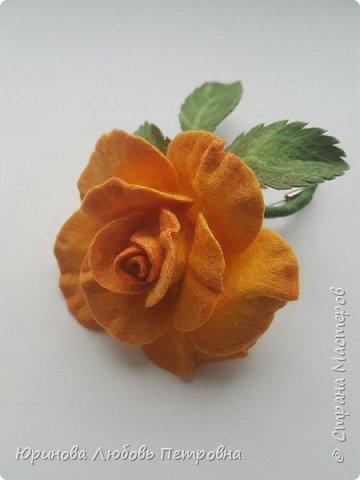 Роза. Брошь. Шерсть. фото 8