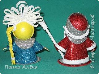 """Приветствую, жителей Страны Мастеров! Представляю Вам игрушки из фоамирана. Баночка для хранения конфет """"Дед Мороз"""". фото 17"""