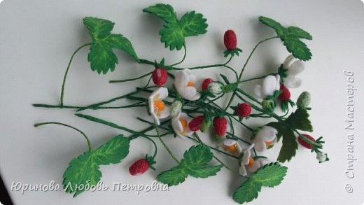 Букетик летних полевых цветов. Брошь. Шерсть. фото 9