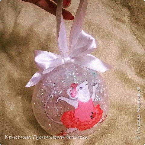 Расписной елочный шарик Анжелина-балерина.
