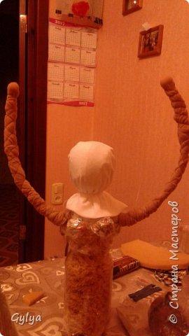 """Моя первая кукла и мой первый МК. Делала для конкурса """"Масленица"""" в детский сад. Кукла высотой 46 см, вместе с блином-солнышком высота составляет 60 см. фото 16"""