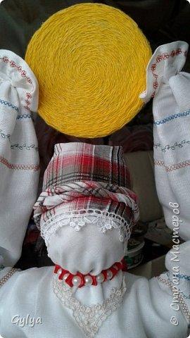 """Моя первая кукла и мой первый МК. Делала для конкурса """"Масленица"""" в детский сад. Кукла высотой 46 см, вместе с блином-солнышком высота составляет 60 см. фото 43"""