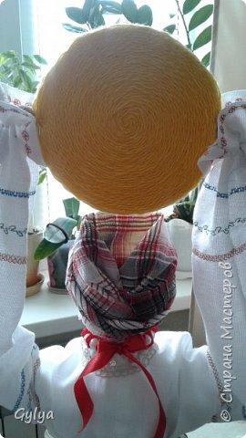 """Моя первая кукла и мой первый МК. Делала для конкурса """"Масленица"""" в детский сад. Кукла высотой 46 см, вместе с блином-солнышком высота составляет 60 см. фото 45"""