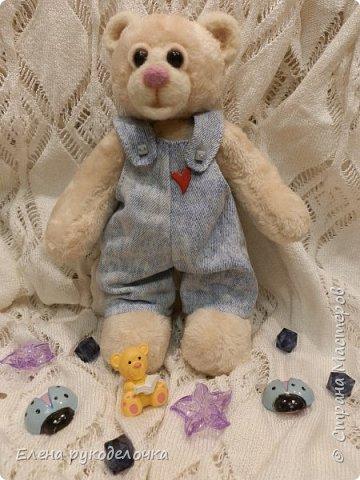 Сотворился у меня миленький мишка. Назвала я его Франтик. Делала я его в подарок другу и очень хорошему человеку. фото 1