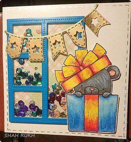 Всем привет и мира в Ваши дома! Увидела в интернете фирменные штампы, вот таких милых медвежат. но увы, они жутко дорогие и покупать их нужно за океаном (((. Но, глаз загорелся.. и я все же смогла осуществить свою задумку.. сделала вот такие открыточки! Покажу их поближе... фото 3