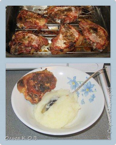 КОТЛЕТЫ НА КОСТОЧКЕ (свинина) Берем свинину на косточке, натираем ее с двух сторон горчицей и присыпаем приправой для жарки мяса. В духовку на 45 минут на решетке