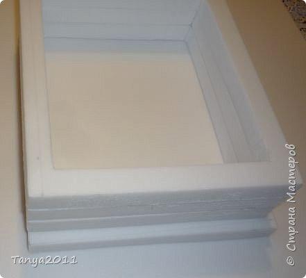 Добрый день, мастерицы! Я сегодня спешила сделать МК шкатулки-книги. Итак, нам необходимо: пеноплекс толщиной 2 см - 2/3 листа, нож канцелярский , наждачка, клеевой пистолет, краска гуашь, акриловый лак, распечатка, контур по керамике белый. фото 8