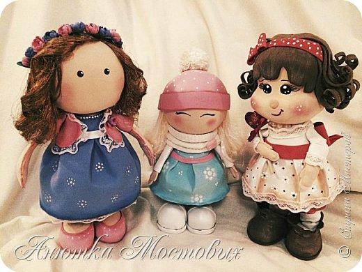 Вот такая интерьерная куколка у меня получилась) насмотрелась в интернете модных сечас кукол, обычно их шьют, а я решила сделать из фома;) фото 6