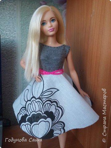 Сегодня(в первый весенний денёк)я хочу показать вам этот романтичный и весенний образ для пышной куклы барби. фото 1