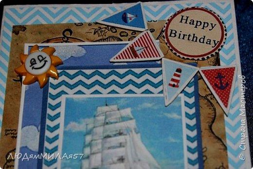 Здравствуйте всем!!!Попросили сделать открытку годовалому мальчику на день рождения,а тут ещё внуку 10 лет,Вот сложилось,мне открытки нравятся,а как вам? фото 15