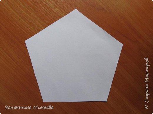 На авторство особо не претендую, возможно такие цветочки уже где-нибудь появлялись, не могу утверждать. Соединительные модули по сборке очень похожи на модуль кусудамы Каркасс Екатерины Лукашевой, только крепление осуществляется по-другому. Короче, такой вот гибрид из двух разных модулей.    Name: Blooming icosahedron - I  Designer: Valentina Minayeva Parts: 12 (pentagons) Paper: 6,4 x 6,4 х 6,4 х 6,4 х 6,4 Parts: 30 (squares) Paper: 6,4 х 6,4 Final height: ~ 10,0 cm without glue фото 4