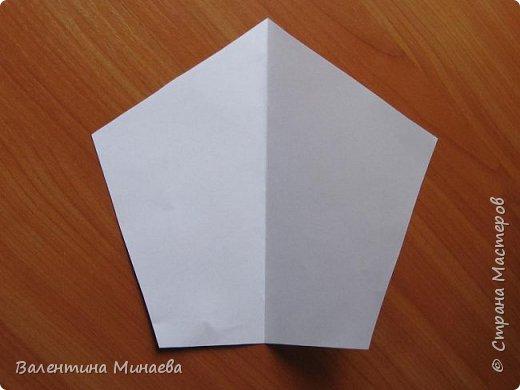 На авторство особо не претендую, возможно такие цветочки уже где-нибудь появлялись, не могу утверждать. Соединительные модули по сборке очень похожи на модуль кусудамы Каркасс Екатерины Лукашевой, только крепление осуществляется по-другому. Короче, такой вот гибрид из двух разных модулей.    Name: Blooming icosahedron - I  Designer: Valentina Minayeva Parts: 12 (pentagons) Paper: 6,4 x 6,4 х 6,4 х 6,4 х 6,4 Parts: 30 (squares) Paper: 6,4 х 6,4 Final height: ~ 10,0 cm without glue фото 6