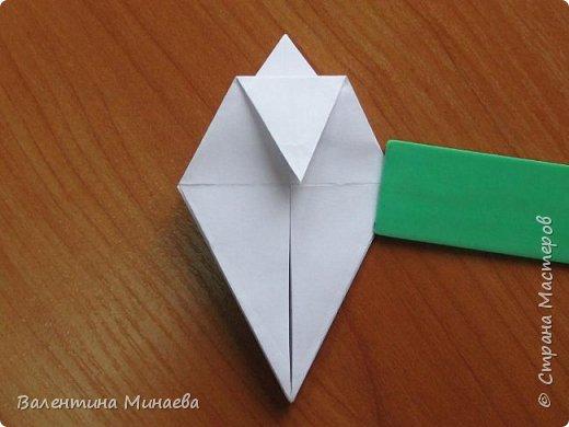 На авторство особо не претендую, возможно такие цветочки уже где-нибудь появлялись, не могу утверждать. Соединительные модули по сборке очень похожи на модуль кусудамы Каркасс Екатерины Лукашевой, только крепление осуществляется по-другому. Короче, такой вот гибрид из двух разных модулей.    Name: Blooming icosahedron - I  Designer: Valentina Minayeva Parts: 12 (pentagons) Paper: 6,4 x 6,4 х 6,4 х 6,4 х 6,4 Parts: 30 (squares) Paper: 6,4 х 6,4 Final height: ~ 10,0 cm without glue фото 16