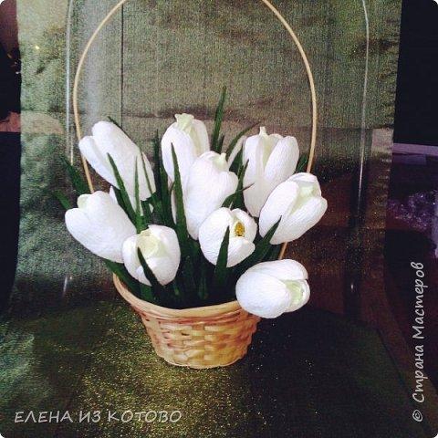 Подарочек племяшке мужа, подснежники. Получились гигантскими из-за больших конфет)))) фото 1