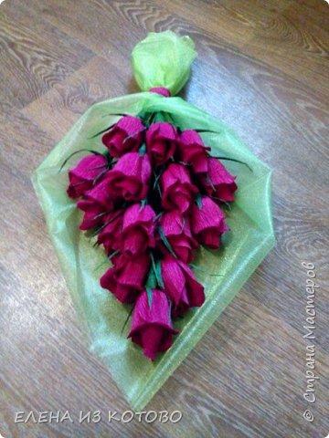 Подарочек племяшке мужа, подснежники. Получились гигантскими из-за больших конфет)))) фото 3
