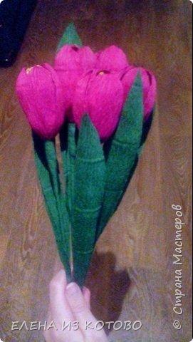 Подарочек племяшке мужа, подснежники. Получились гигантскими из-за больших конфет)))) фото 4