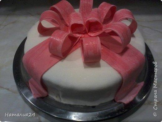 Мой первый торт с сахарной мастикой. Торт на день рождение дочери. фото 2