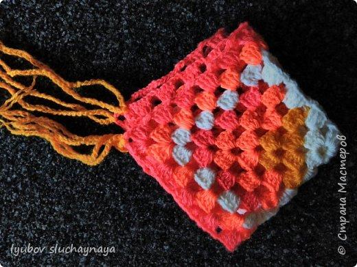 Волшебство бабушкиного квадрата - чехлы на табурет крючком - мини МК фото 6