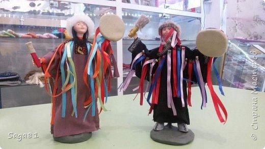 Всем доброго дня!!!!Решила показать новые работы. Это два шамана ,учитель и ученик. фото 5