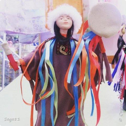 Всем доброго дня!!!!Решила показать новые работы. Это два шамана ,учитель и ученик. фото 1