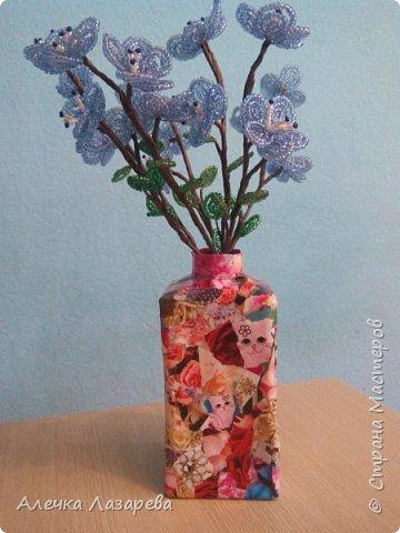 Цветущие веточки из бисера