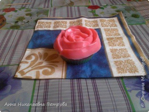 Здравствуйте, сегодня я расскажу как сделать красивое мыло, в виде розы. фото 9