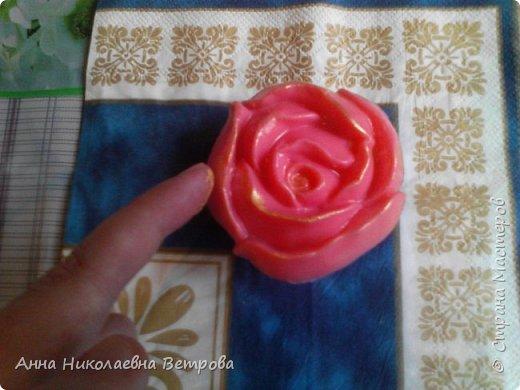 Здравствуйте, сегодня я расскажу как сделать красивое мыло, в виде розы. фото 10