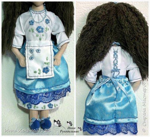 Мне очень нравится процесс создания текстильной куклы.  Вот решила поделиться своими первыми куколками. Это здорово - создавать такие вещи, отношусь к ним бережно и долго радуюсь результатом. фото 8