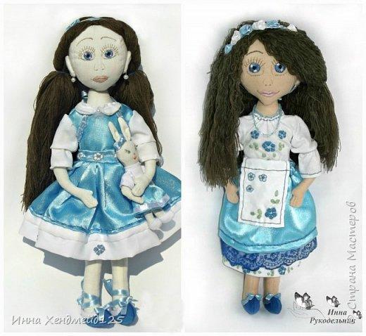 Мне очень нравится процесс создания текстильной куклы.  Вот решила поделиться своими первыми куколками. Это здорово - создавать такие вещи, отношусь к ним бережно и долго радуюсь результатом. фото 1