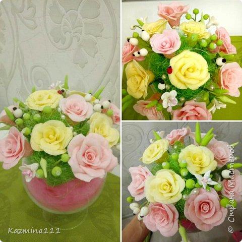 Мои первые розы из холодного фарфора