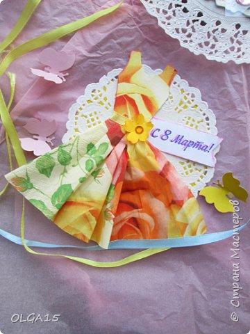 Здравствуйте, жители Страны Мастеров! Готовимся с детьми к празднику 8 марта. Сделали открытки в форме цветочного горшка. фото 11