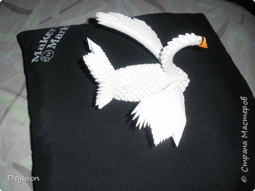 Лебедь из модулей оригами фото 2