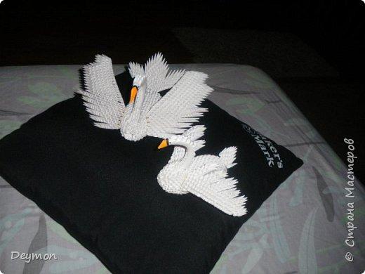 Лебедь из модулей оригами фото 5