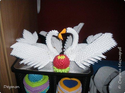 Лебедь из модулей оригами фото 6