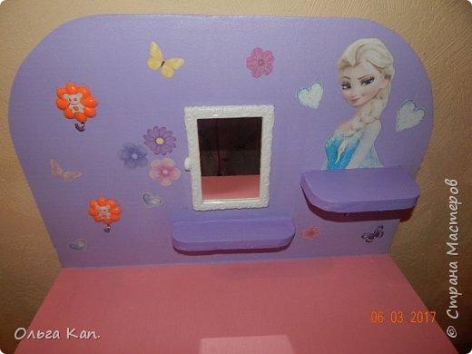 Вот такой столик для украшений для дочери сделала в подарок на 8 марта. фото 3