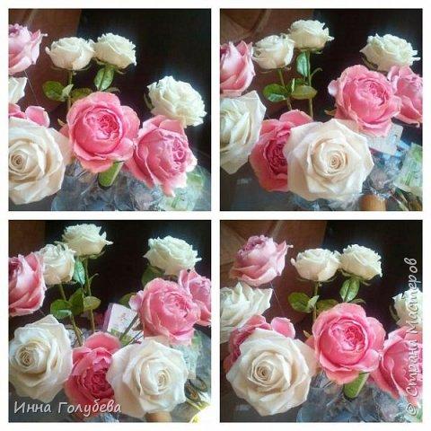 Привет всем жителям! Сегодня пионовидные розы и небольшой МК по ним) фото 18