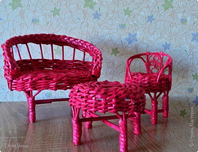 Мебель внучке в кукольный домик. Спасибо за МК Марголине http://stranamasterov.ru/user/15396. У меня, конечно, получилось  не так красиво, но я старалась. фото 1