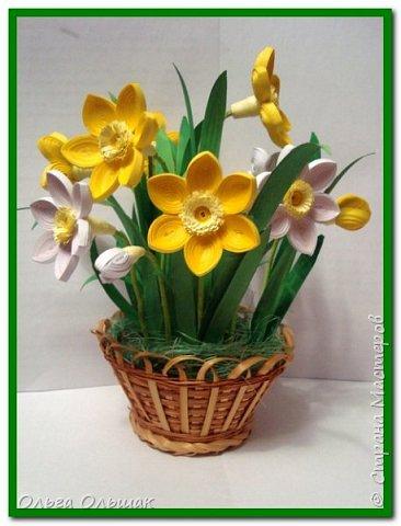 Букетик нарциссов для вас, милые мастерицы, в день 8 марта! фото 2
