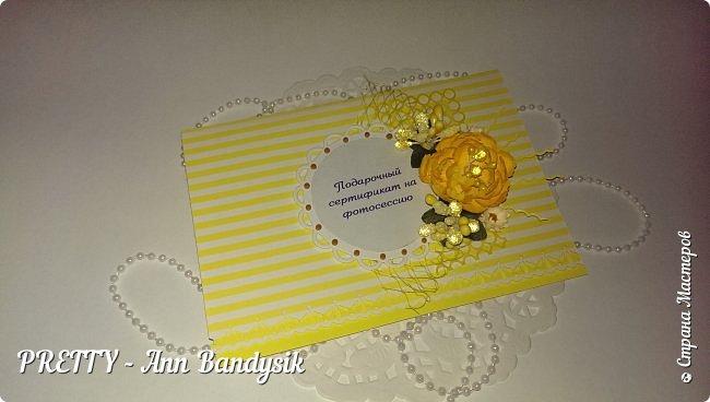 Подарочные цветочные сертификаты на фотосессию для фотографа! фото 9