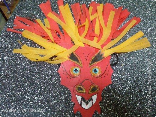Карнавальная маска Китайский дракон