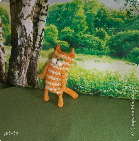 """Готовилась к выставке """"Котовасия""""-5, которая не состоялась, к сожалению, да решила собрать всех котов, что были связаны к этому случаю и раньше. Первая игрушка, это Кот-сибарит. Связан по рисунку Натальи Илларионовой. фото 9"""