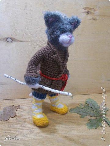 """Готовилась к выставке """"Котовасия""""-5, которая не состоялась, к сожалению, да решила собрать всех котов, что были связаны к этому случаю и раньше. Первая игрушка, это Кот-сибарит. Связан по рисунку Натальи Илларионовой. фото 16"""