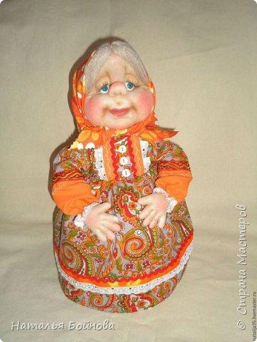 Вот такая тёплая бабулька получилась -  в красках лета  фото 2