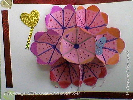 Сегодня приготовили открытки любимым мамочкам к 8 Марта Ребята выполняли свои поделки  с усердием и любовью!Старались украсить поинтереснее, поярче .Поработали от души и вот результат !!! Лицевая сторона . фото 39