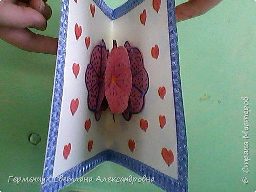 Сегодня приготовили открытки любимым мамочкам к 8 Марта Ребята выполняли свои поделки  с усердием и любовью!Старались украсить поинтереснее, поярче .Поработали от души и вот результат !!! Лицевая сторона . фото 44