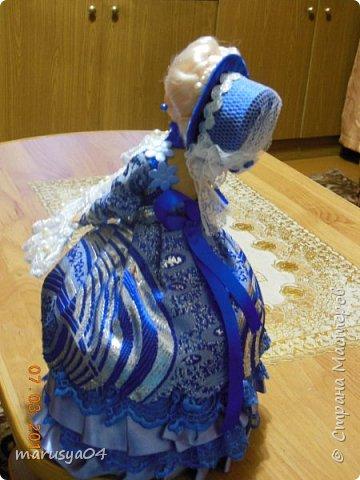 Вот такая дама с веером получилась))). Делала на основании костюмов для верховой езды - стиль диктовала шляпка... фото 5